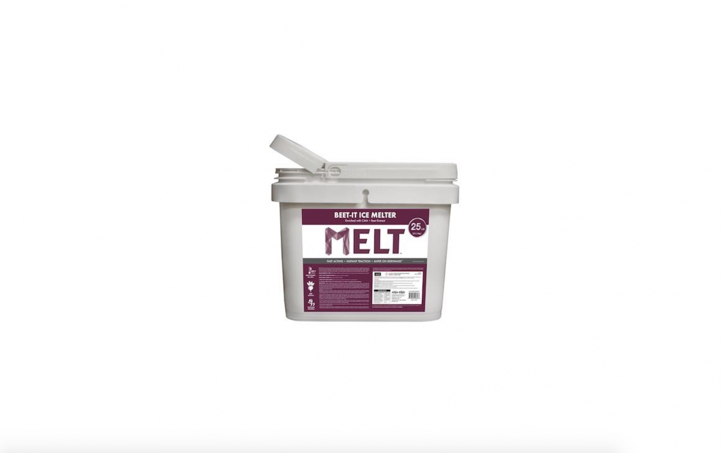 And where's the nearest beet juice emporium, you ask? You don't have to stir up your own concoction; Snow Joe makes a mix called Melt-