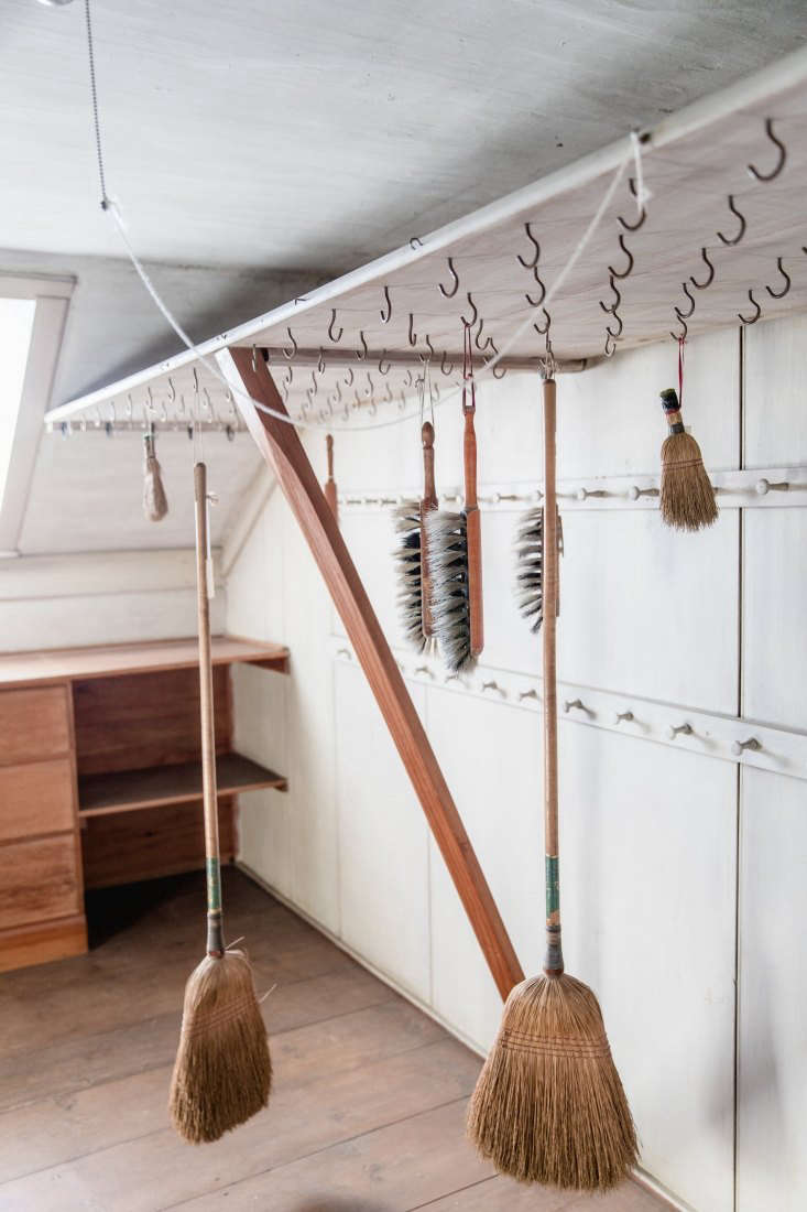 It&#8\2\17;s wise to take housekeeping advice from the Shakers, arguably the best cleaners in American history. Here, a utility closet is stocked with Shaker brooms and brushes for every task, all hung within easy reach. Outfit the garden closet or shed similarly and you&#8\2\17;ll be equipped for every garden task.