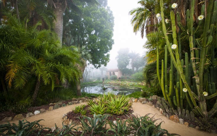 The perfectly framed Water Garden.