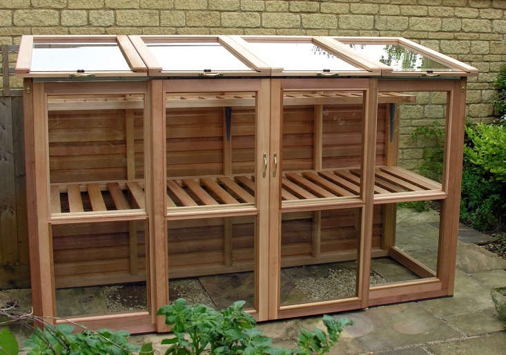 As shown, a tall Cedar Cold Frame from Woodpecker Joinery is 5 feet tall and \2 feet deep;£\1,\195 from Woodpecker Joinery. Several other configurations and sizes are available, at prices from£795 to£\1,3\15.