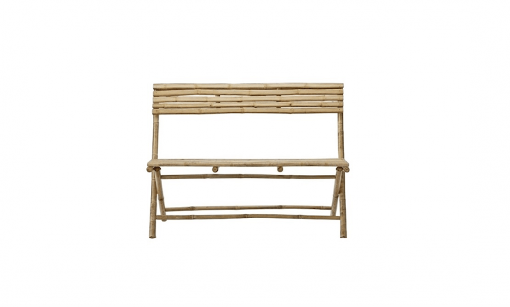From Denmark-based Lene Bjerre, a natural bamboo Bench Bench folds flat for easy storage;€\150 from Elementi Home.