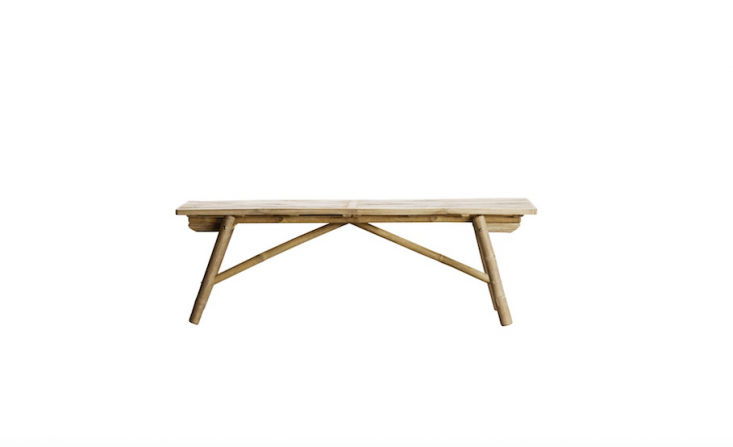 folding bamboo bench from Tine K