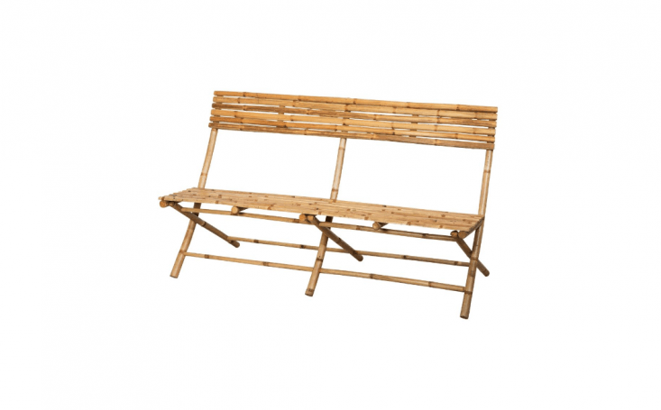 Made of untreated bamboo (translation: keep it out of the rain), a two-seater folding Bamboo Couch is currently on sale for€59.50 at Granit.