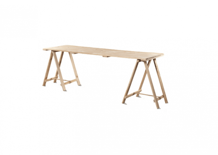 A raw pine Trestle Table comes with two supports and a laminated pine worktop and is available in six sizes. For more information and prices, see Swartland Windows & Doors.