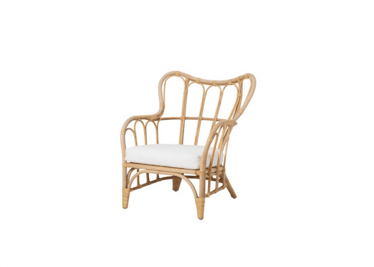 Similar in style to my armchairs from Ikea, a stackable rattan Mastholmen armchair is $0.