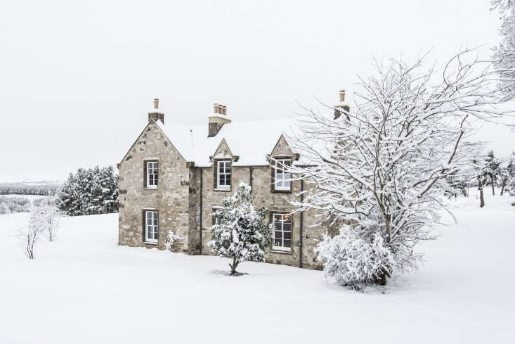 Killiehuntly farmhouse in winter. The estate is located inKingussie, in Cairngorms National Park in the Highlands of Scotland.