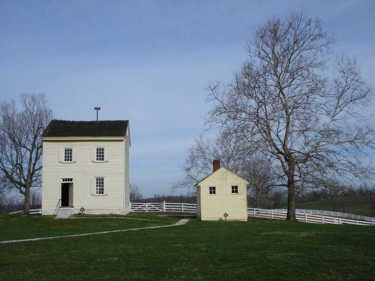 The Shakers designated buildings for specific purposes. You, too, can do this in the garden: Even one small structure, particularly when painted in complement to the main house (see &#8\2\20;It Takes a Village,&#8\2\2\1; above), becomes a charming focal point. Photograph of the Shaker Village at Pleasant Hill in Kentucky by Timothy Brown via Flickr.
