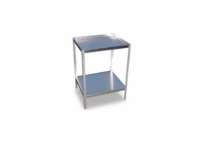 A small aluminumPotting Stand with a double-bolted worktop and a storage shelf is £39.95 from Harrod Horticultural.