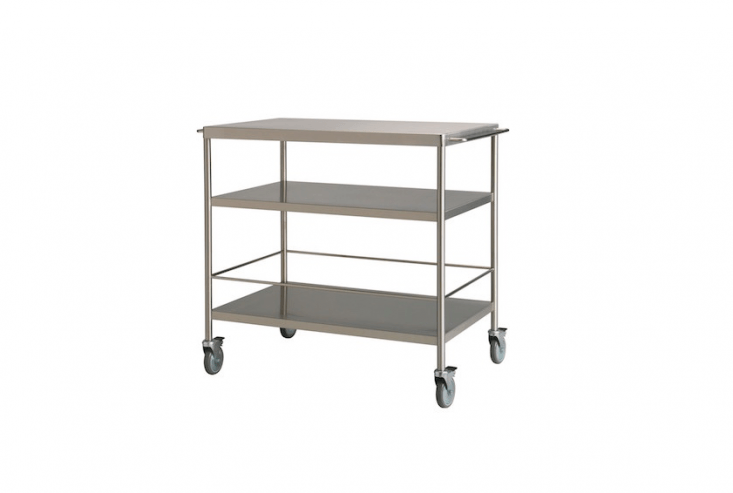 Ikea hack. Suitable for use in a covered shed, Ikea&#8\2\17;s stainless steelFlytta Kitchen Trolley on lockable castors has two extra shelves to store plant pots and bags of soil. Hang garden tools from the side rails; \$\249.