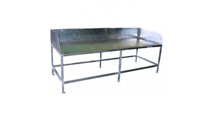 A galvanized Potting Bench With Sides has a folding top and high sides to prevent spillage. Available in three sizes; for dimensions and prices, see CMAC.