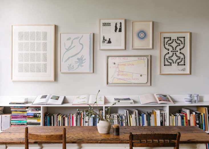 Brooklyn-based gallery owner Sandeep Salter knows a thing or two about how to hang an art wall. Photograph byJonathan Pilkington, styling by Alexa Hotz.
