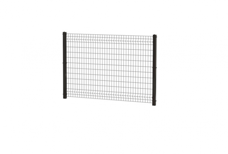 A Black Powder-Coated Steel Decorative Fence Panel by Ironcraft is 48 inches high and available for pickup at select Lowe&#8