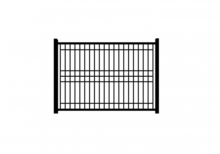 A two-gauge Jerith Patriot Ornamental Wire Fence comes in three heights from 48 to 7