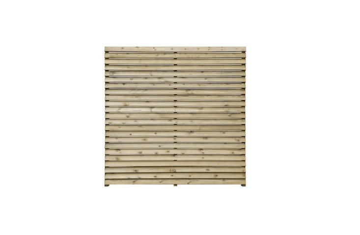 A five-pack of Grange Contemporary Slatted Fence Panels is £470 from DIY.