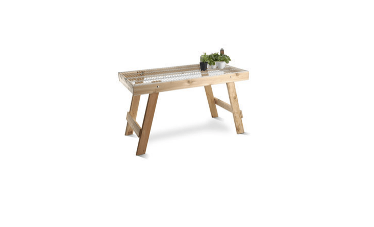 bove: A cedar Wire Top Bench can be customized with a wire top for added drainage and air flow. The bench is available in two sizes; $5 and $loading=