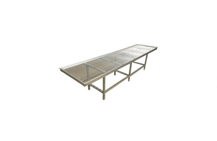 A Commercial Grade Plant Bench is available in three sizes with a metal bench top (zinc-coated to prevent rusting). The benches come in lengths of six, eight, and  feet; for pricing information, visitJanco Greenhouses.