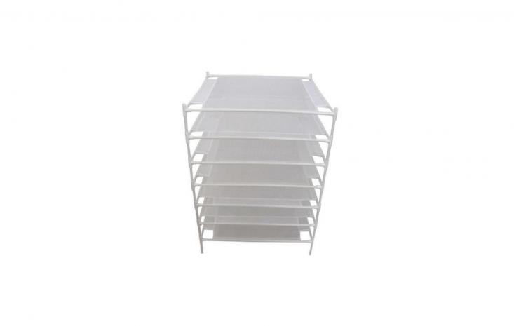 Herb Drying Stackable Racks are sold individually; they fit together to create multiple shelves; made of plastic, each rack is $9.46 from Home Depot.