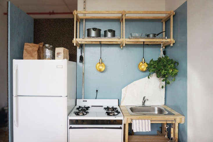 For more, see A Two-Week, \$\1,000, 500-Square-Foot Rental Overhaul by a Design Student in Bushwick, Brooklyn. Photograph courtesy ofKristina LineandAnton Bak.