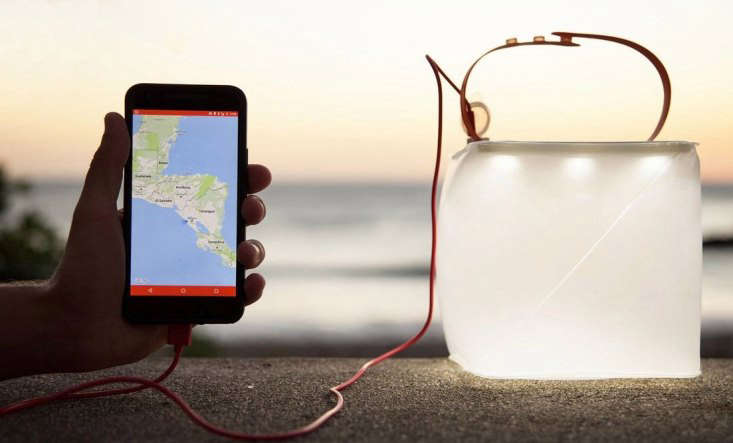 A collapsible solar lantern, the PackLite Max