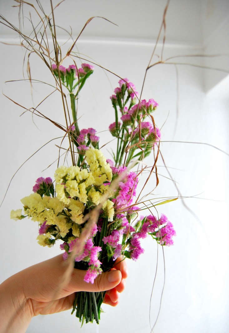 Mix with dried grasses for extra movement and to add space to the bouquets.