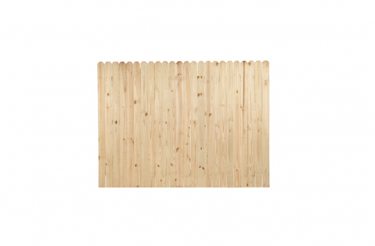 APressure Treated Pine Privacy Fence Panel designed to withstand severe weather conditions is six feet high and eight feet wide;$5loading=