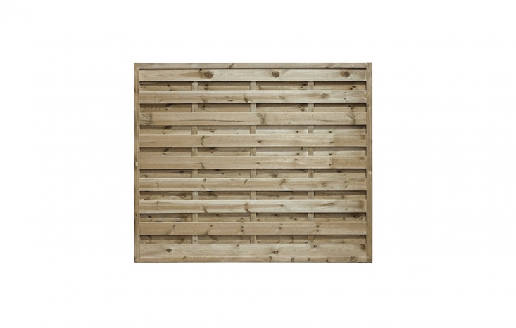 Made of horizontally boarded European timber, Square Horizontal Panels are available in five sizes; £.50 to £37.50 from Pennine Fencing.