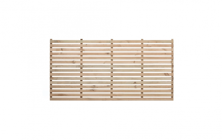 Modular Wood Slatted Panels can be fitted together in a variety of heights and widths. Single panels, available in three sizes, range from £ to £56, depending on height and width at Garden Trellis Co.