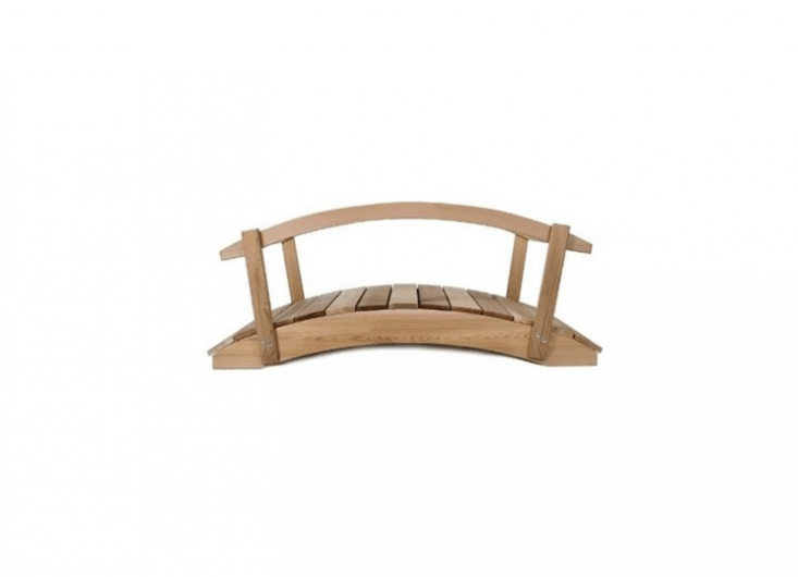 Wooden bridges also are available directly from All Things Cedar, where you can configure aCedar Plank Bridge to your specifications (lengths vary from two to \1\2 feet, and you have a choice of rails or no rails); from \$\23 to \$3\10.