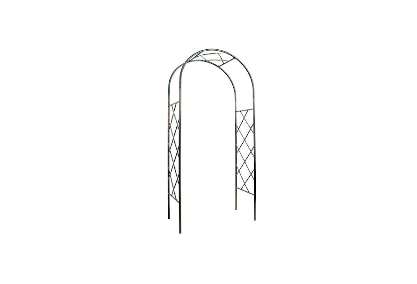 See similar fretwork metal arbors in Easy Pieces: Arched Arbors. Photograph via The Monticello Shop.