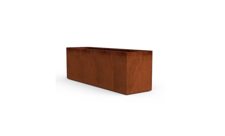 A Metal Planter Trough by Plantercraft is available in six lengths, from 40 to 7\2 inches; \$449.95 to \$\1,399.95 at Amazon.