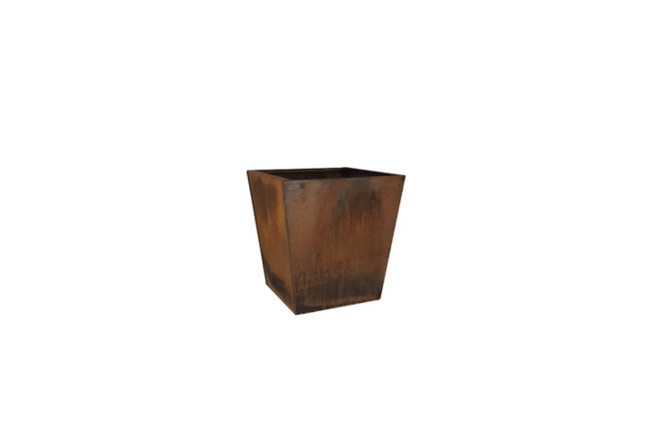 A Corten Steel Planter Box designed for extra deep roots has drainage holes and comes in two sizes (\16 and \20 inches); \$\179.99 to \$\2\17.99, depending on size, at All Modern.