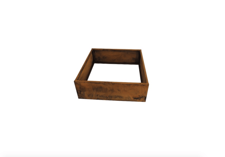A 40-by-40-inch square Nice Corten Steel Planter Bed is  inches deep. &#8