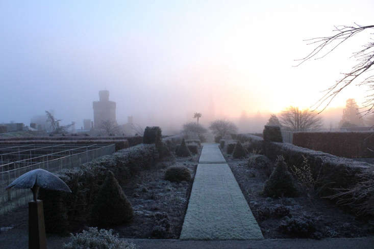 A frosty morning, when miles of topiary and perfect edging makes the most sense.