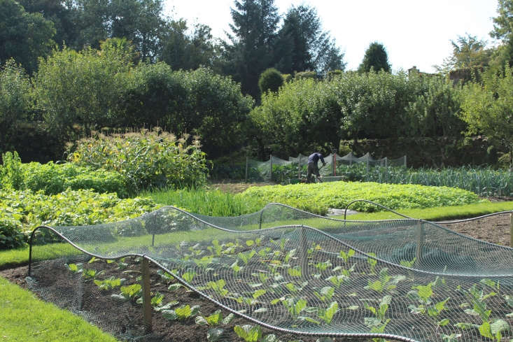 The seven-acre garden includes a kitchen garden for growing fruit and vegetables used by the restaurant and family.