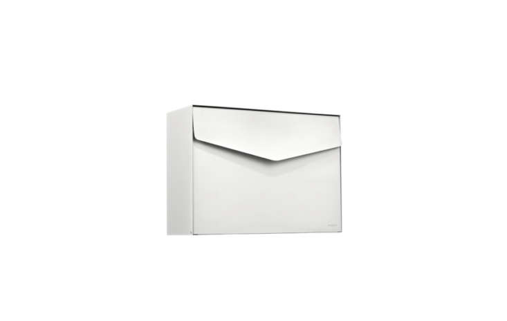 Another MEFA design, this one by Danish designer Sofie Schelde, the Letter \1\1\1 Mailbox is £85 at the Safety Letterbox Company. It comes in eight different hues. For a similar look, try the Emily Locking Wall Mounted Mailbox at Rejuvenation for \$90.