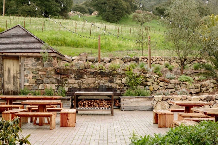 After a redwood tree fell on the property, Petaluma-based woodworkers Noah Elias and Dan Ford transformed its lumber into weather-resistant outdoor dining tables and benches.