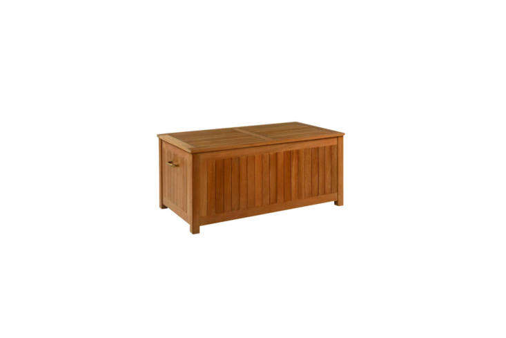 A Kingsley Bate Cushion Storage Box is \$\1,600 from Authenteak.