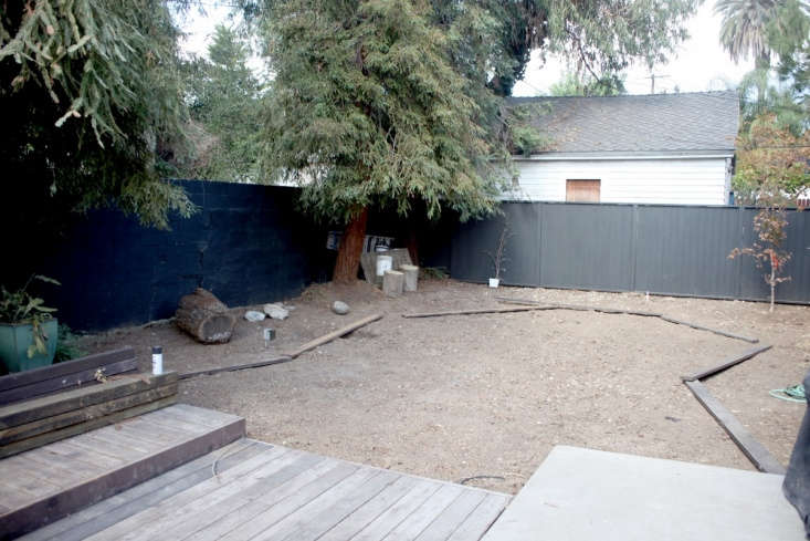 An existing fence needed repair, but not replacement. The existing redwood trees needed no help at all.