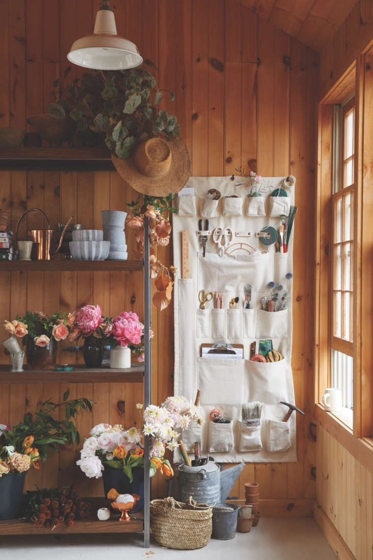 A cross between a gardening apron and a shoe pocket, The Floral Society Canvas Wall Organizer, $5.50, is a catchall that keeps tools tidy and within arm&#8