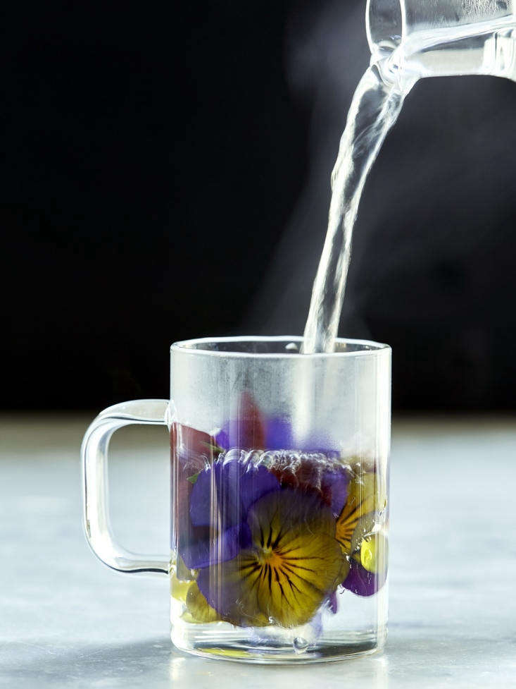 Our pansy tisane had an earthy, rustic flavor.
