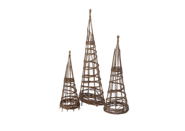 A Willow Garden Obelisk is available in three heights (from  to 47 inches); $ to $38 at Terrain.