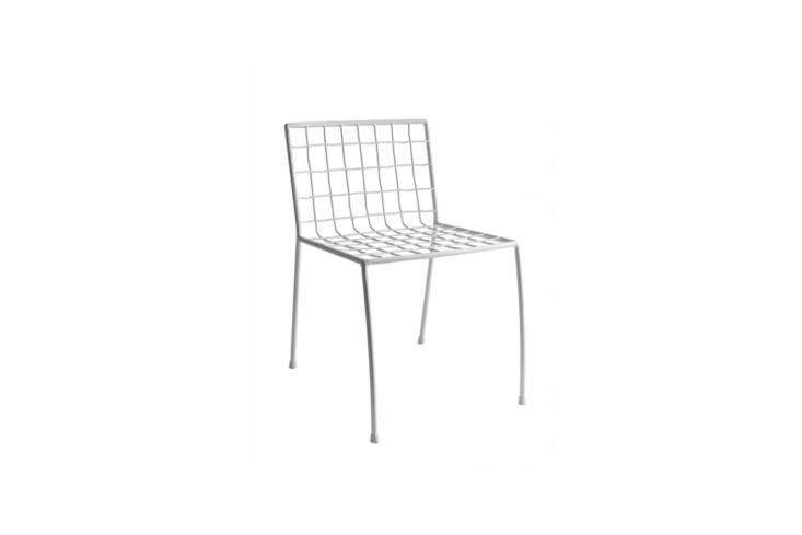 The Antonio Sciortino Stoel Commira White Chair designed for Serax is €9.95 via Best Sale and Serax. Alternatively, thePip-e Chair in white polypropylene has a similar look to the chair in the garden; $loading=