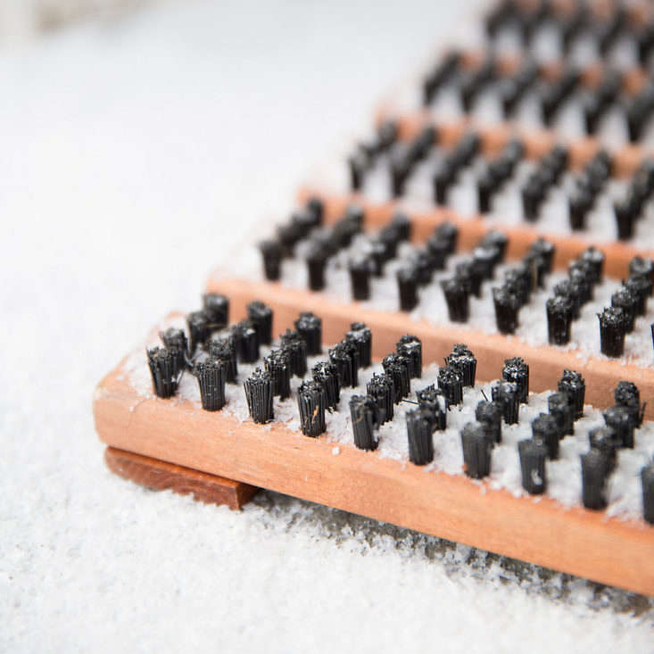 Handmade in Sweden, aBirch Bristle Doormat is available in two sizes; \$\1\28 to \$\198 at Terrain.
