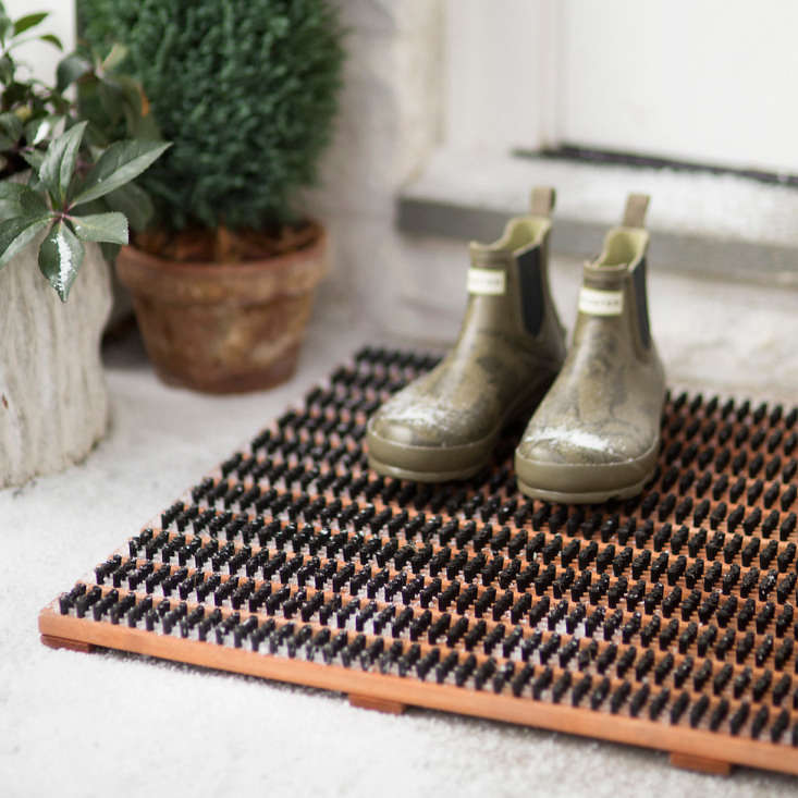 Getting a new doormat is the exterior equivalent of getting new carpet. But far, far less expensive. You need an upgrade if yours is stained, scuffed, worn down, or faded. We love this birch bristle doormat from Terrain.