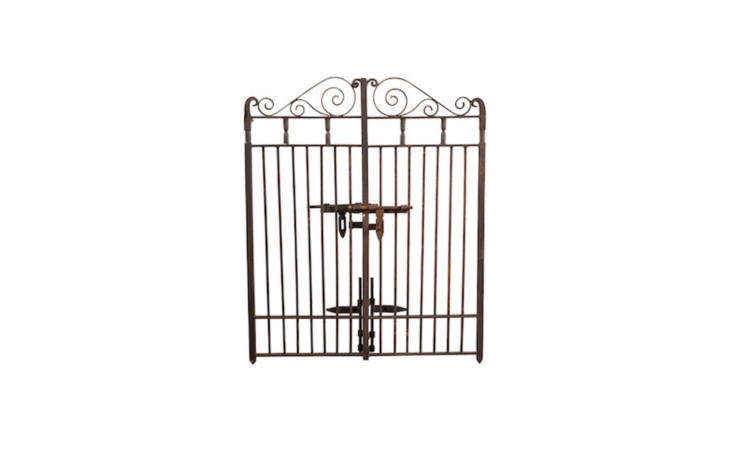 A hand-forged 53-inch-wide Classic Iron Gate is 47 inches high and is $loading=