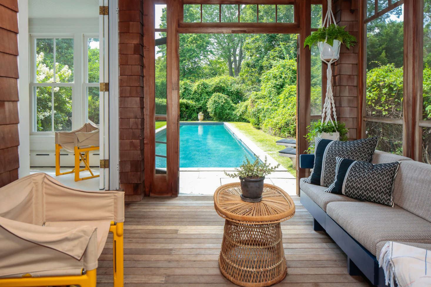 The sun porch of architect Elizabeth Roberts&#8
