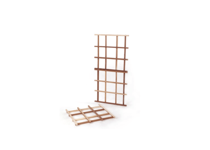 AnExpandable Cedar Trellis Kit comes with three squares with pre-drilled holes; $36 from All Things Cedar.