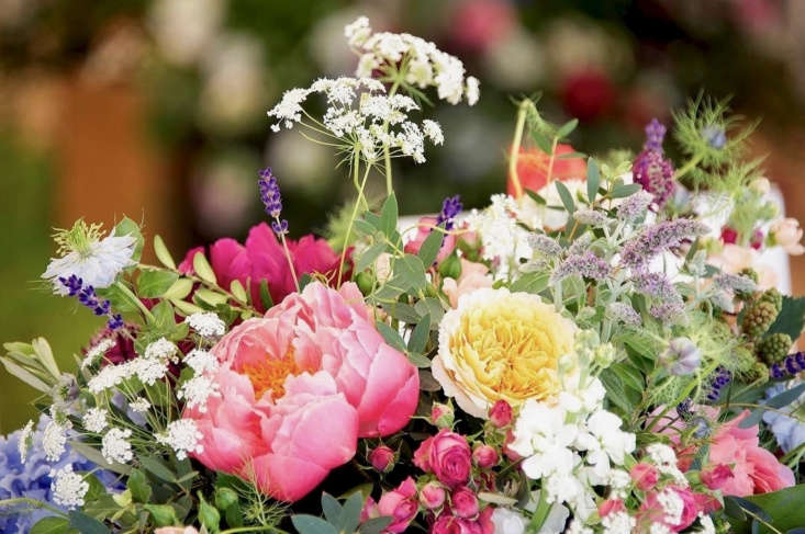 A jumble of peonies, roses, lavender, nigella, and Queen Anne&#8\2\17;s lace, which royal wedding florist Craddock describes as &#8\2\20;country bright, bold, and colorful&#8\2\2\1; may offer a hint of her intentions.