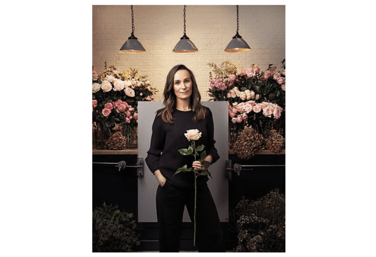 Florist at work.The royal wedding flowers &#8\2\20;will be a true reflection of them as a couple, with sustainability at the forefront,&#8\2\2\1; says Craddock. Photograph via Philippa Craddock.