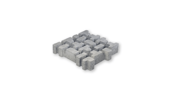 Made ofvibro-compressed concrete, a grayGrating RB6 grass block paver measures 500 millimeters square (approximately\19.7 inches) and is sold in sets of four. For more information and prices, see Italy-based CEDA.